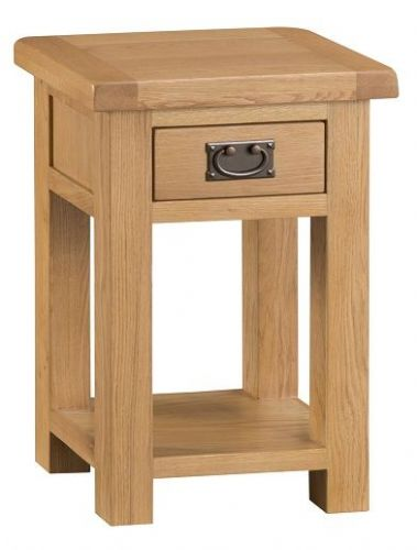 Chelmsford Oak 1 Drawer Side Table